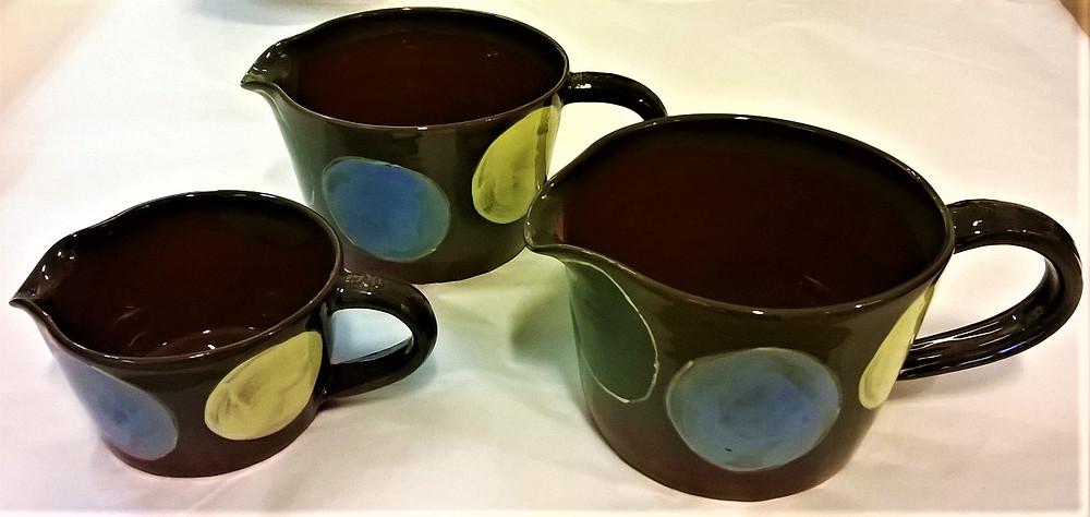 Pamela Brooker geometric design jugs