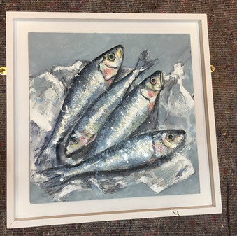 Giles Ward 'fish painting'