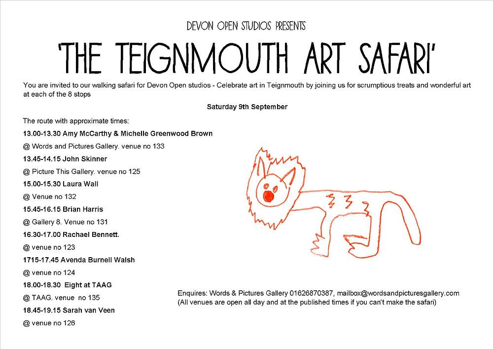 The Devon Open Studios Safari organised by Rachael Bennett