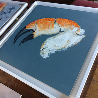 Giles Ward 'Crab Claw on Blue'