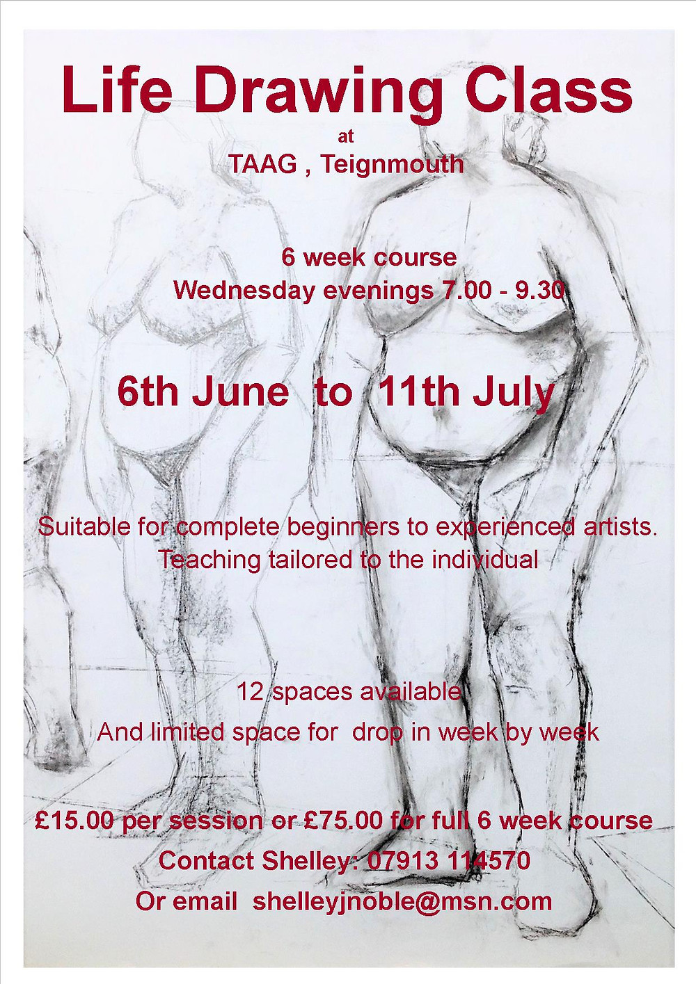 Life drawing teignmouth