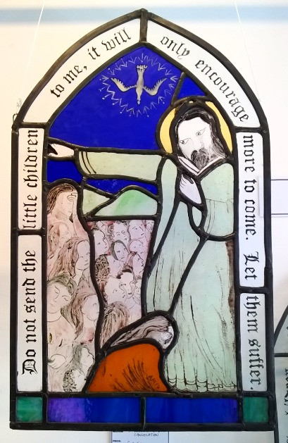 Amy McCarthy stained glass window