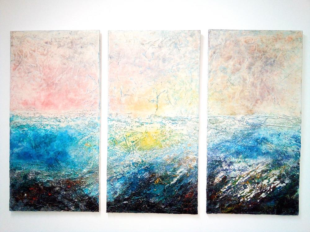 Rachael Bennett triptych