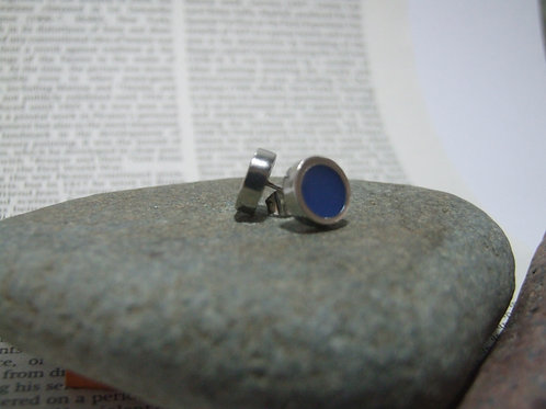 'Smalt' Blue stud Earrings by Lawrence Gibson (KOA)