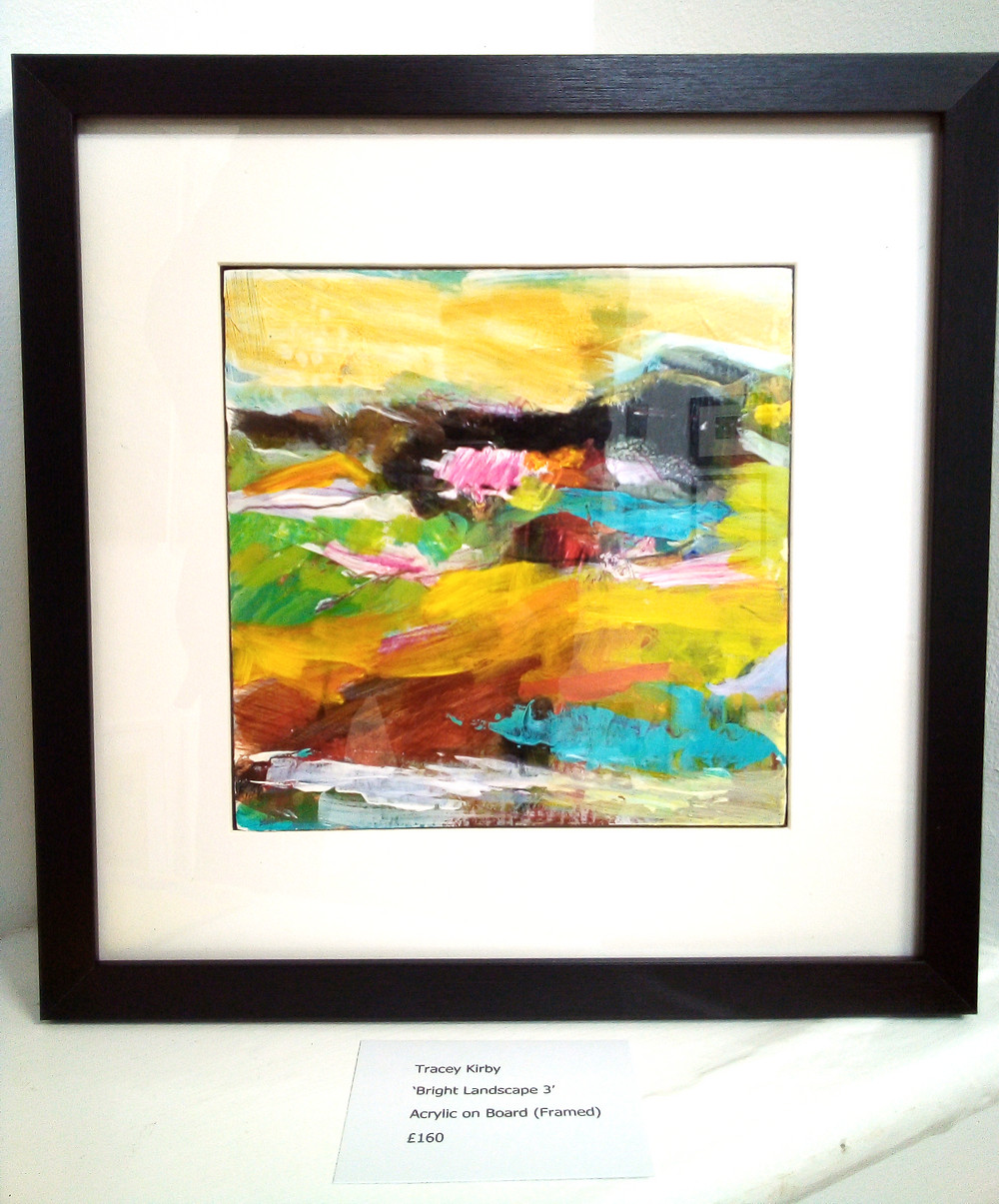 Tracey Kirby small abstract painting