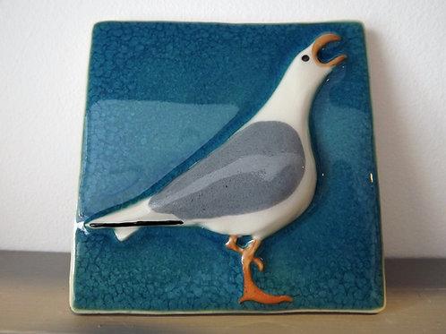 Ann-Mari Hopkin, 'Seagull 1' Ceramic Tile - 10 x 10cm