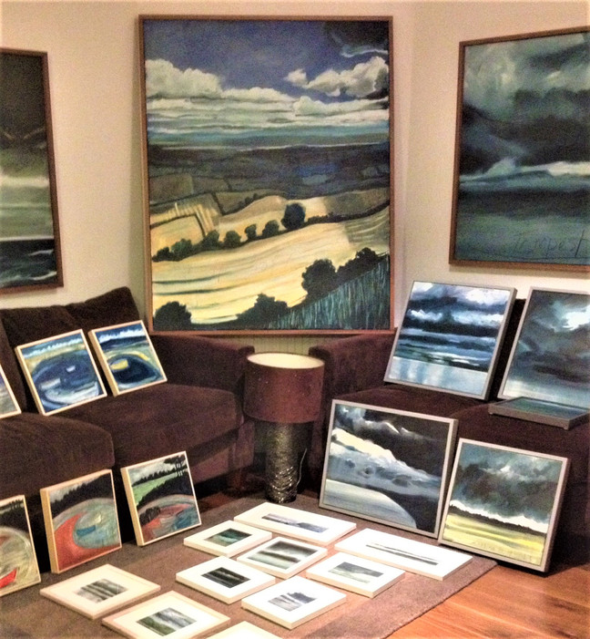'WeatherScape' New Paintings by Caroline Wightman