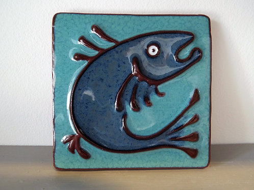 Ann-Mari Hopkin, 'Fish' Ceramic Tile -