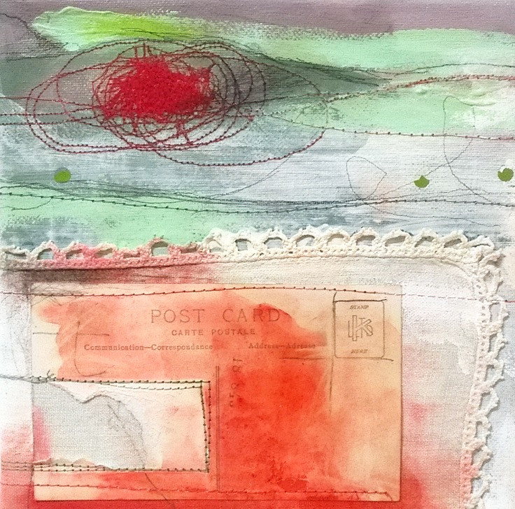 mixed media landscape painting by Shelley Noble No2