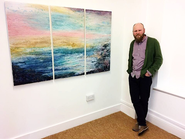 New Painting in Gallery from Rachael Bennett - a prelude to her One Person Exhibition in July