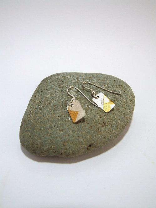 Keum Boo - fine Silver Drop Earrings by Sue Jones (SJ971)
