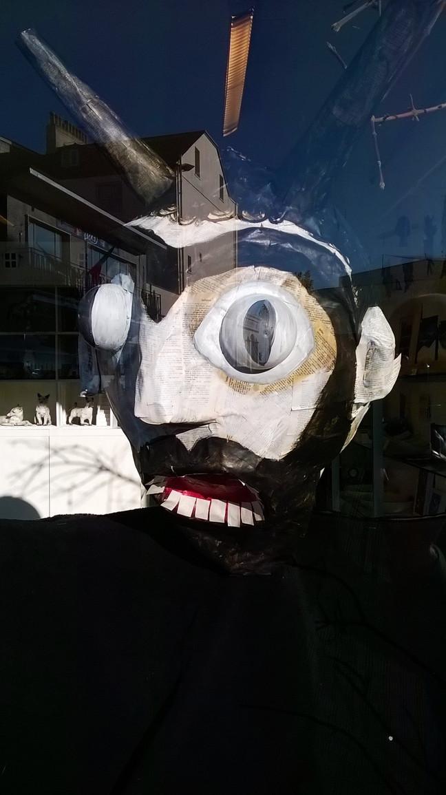 Guy Fawkes, Halloween window display