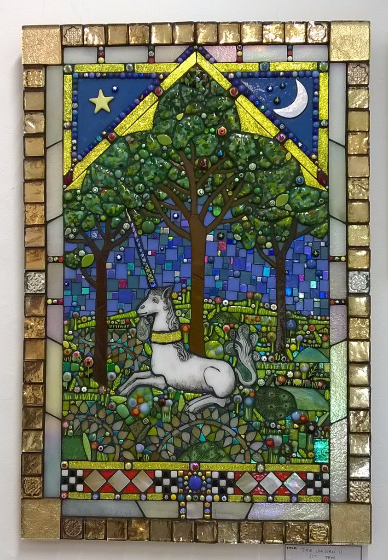 Michelle Greenwood-Brown mosaic based on early medieval window