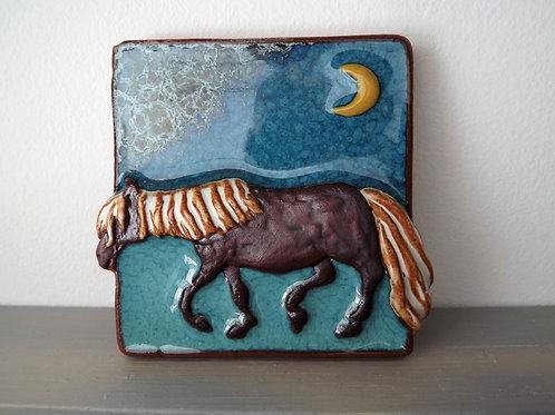 Ann-Mari Hopkin, 'Dartmoor Pony' Ceramic Tile - 10 x 10cm