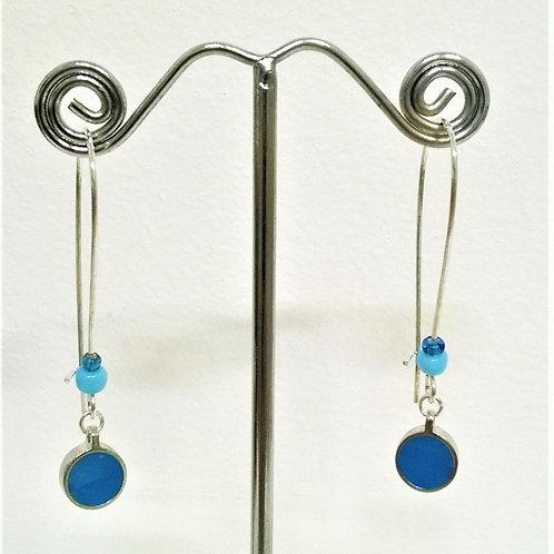 Koa Sky Blue drop Earrings - EC126b
