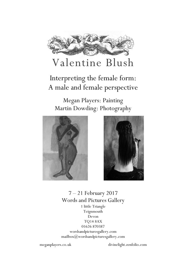 """First Artists Exhibition! """"Valentine Blush"""" Painting by Megan Players, Photography by Mart"""
