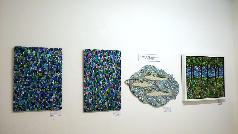 Michelle Greenwood-Brown Dichroic glass Mosaics