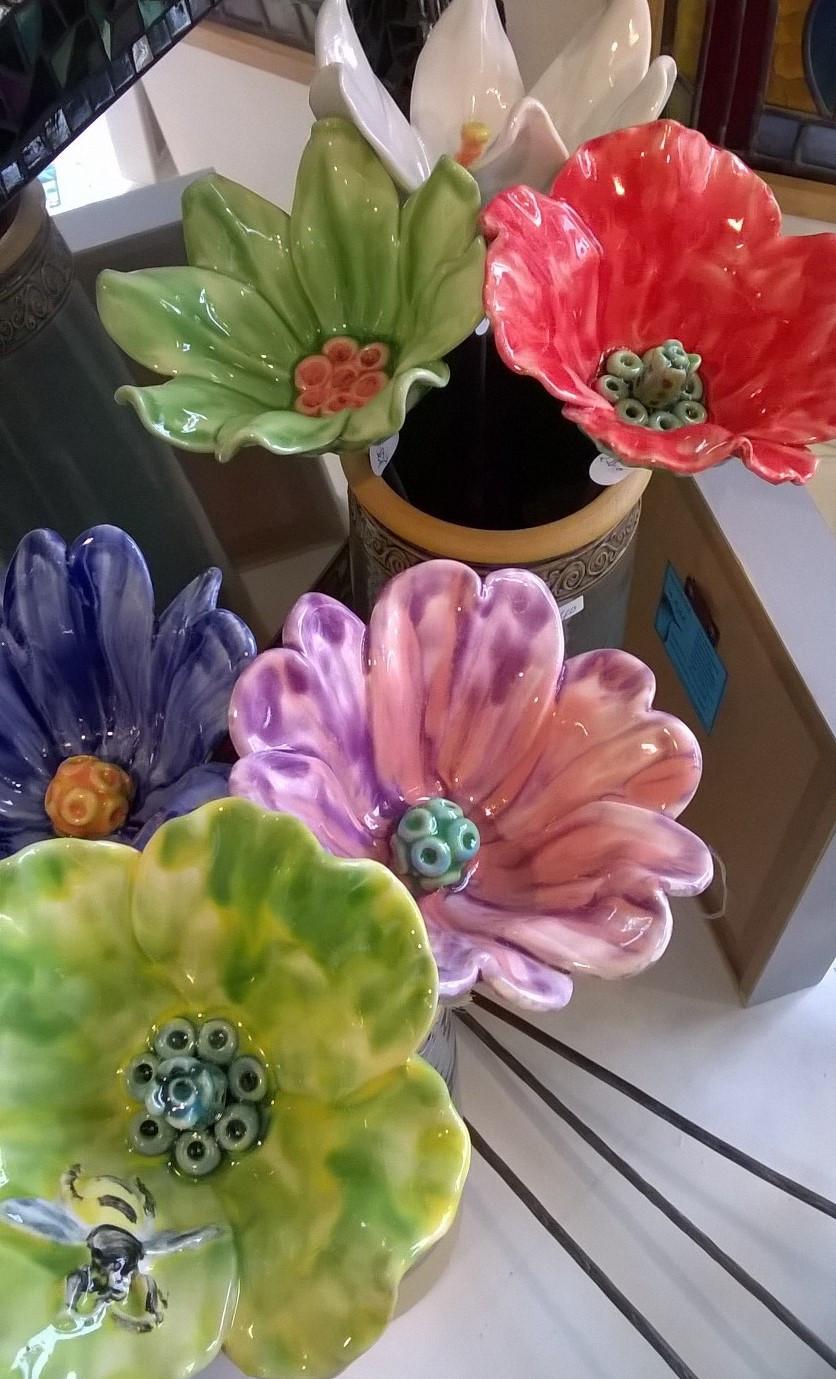 Ceramic Flowers by Renee Kilburn
