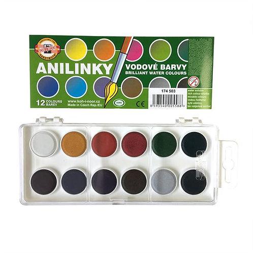 Anilinky Brilliant Watercolours - Set of 12