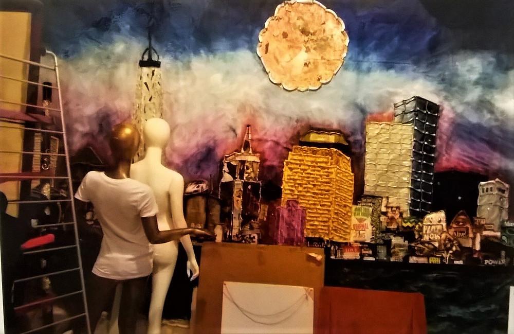Shop window in progress, Villo Varga