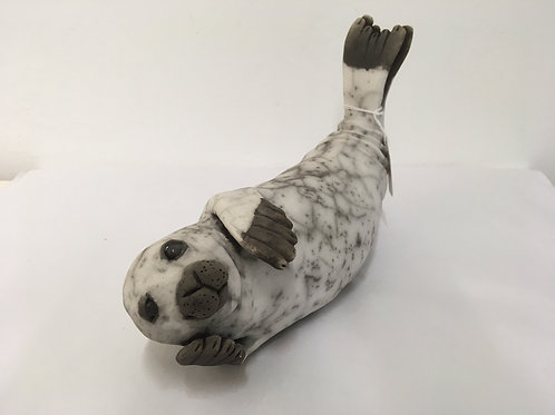 'Seal 1' By Ella Massingberd Raku fired Stoneware Sculpture