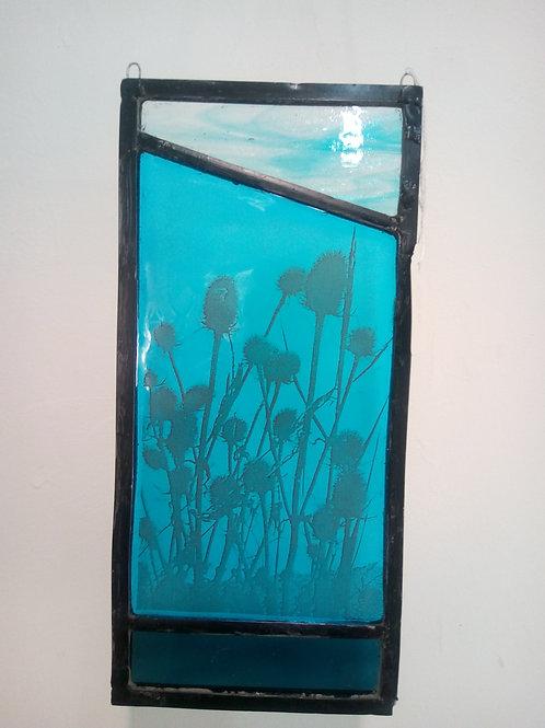 Bullrush glass panel by Amy McCarthy