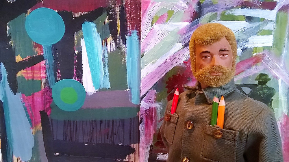 New Painting Action Man by Jason Noble