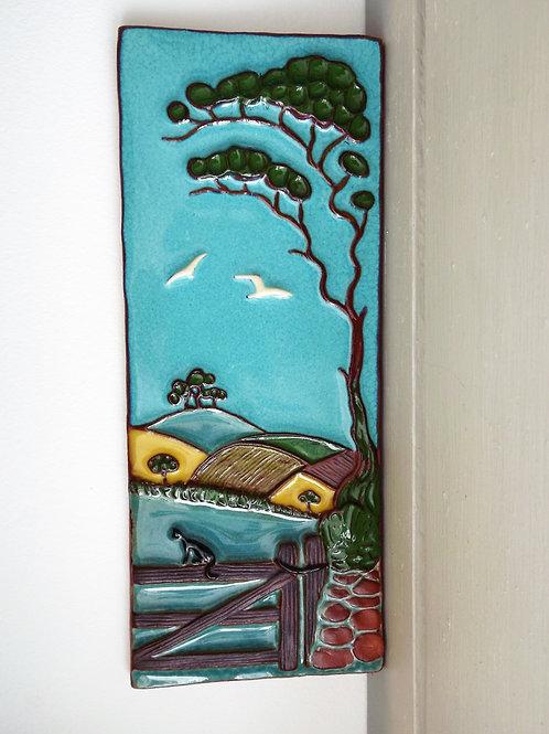 Ann-Mari Hopkin, Ceramic Tile - 'Devon Landscape'