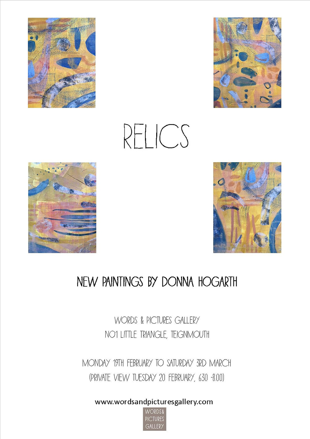 Painting exhibition Donna Hogarth Words & Pictures Gallery