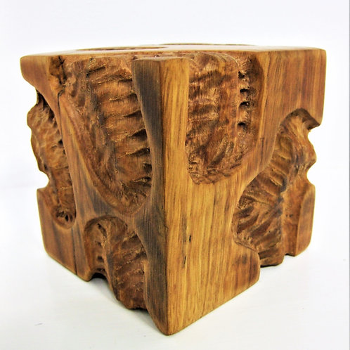 Carved Larch Cube by Steve Carroll