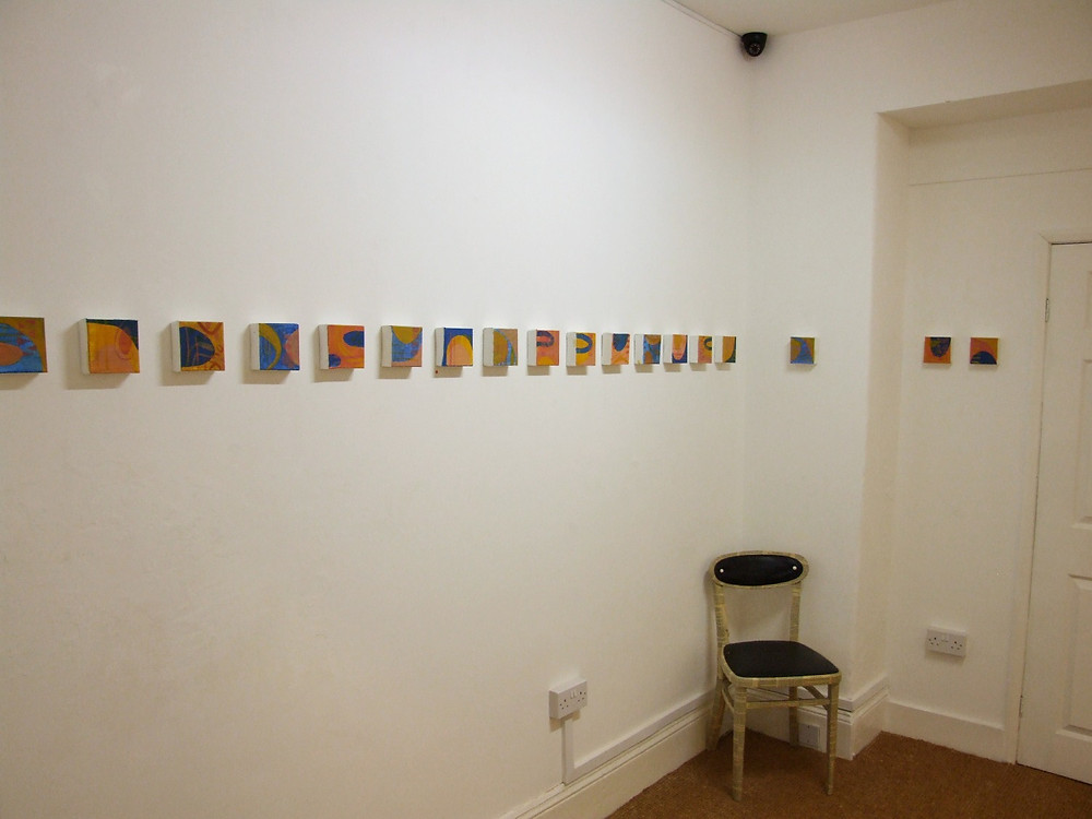 Painting Exhibition 'Relics' by Donna Hogarth - small canvases