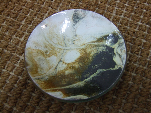 Small Enamelled Glass Dish by Gregg Ashton Rice (Craft Fusion)