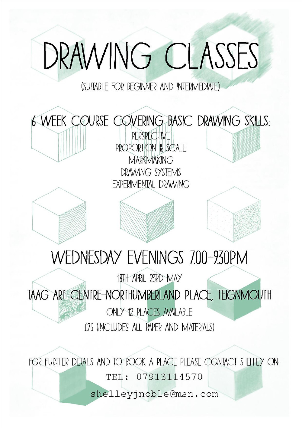 Drawing art classes Teignmouth, Devon