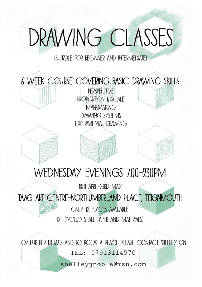Like to try something new? or update your drawing skills? Limited places only, Book now!