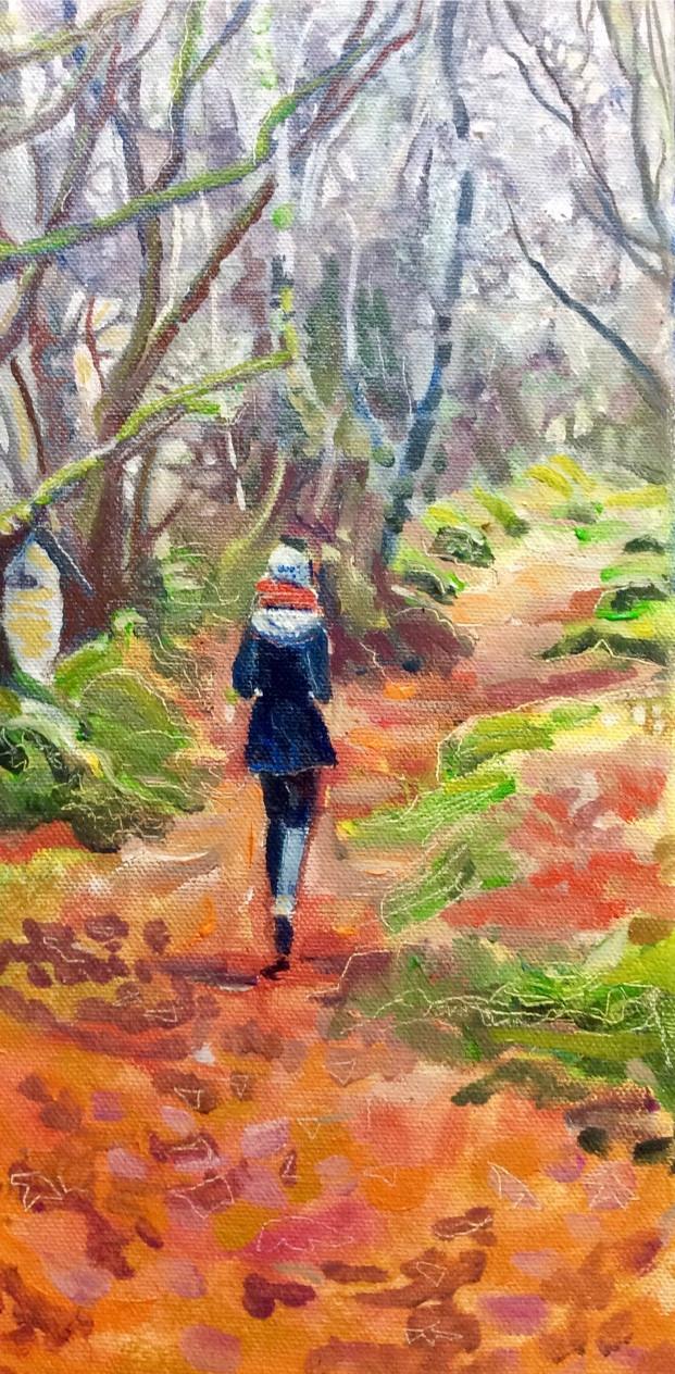 Lori Diggle 'persephone in milber woods'