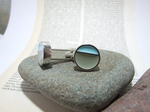 Turquoise and Grey Cufflinks By Lawrence Gibson (KOA)