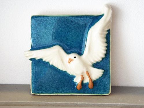 Ann-Mari Hopkin, 'Seagull 2' Ceramic Tile - 10 x 10cm