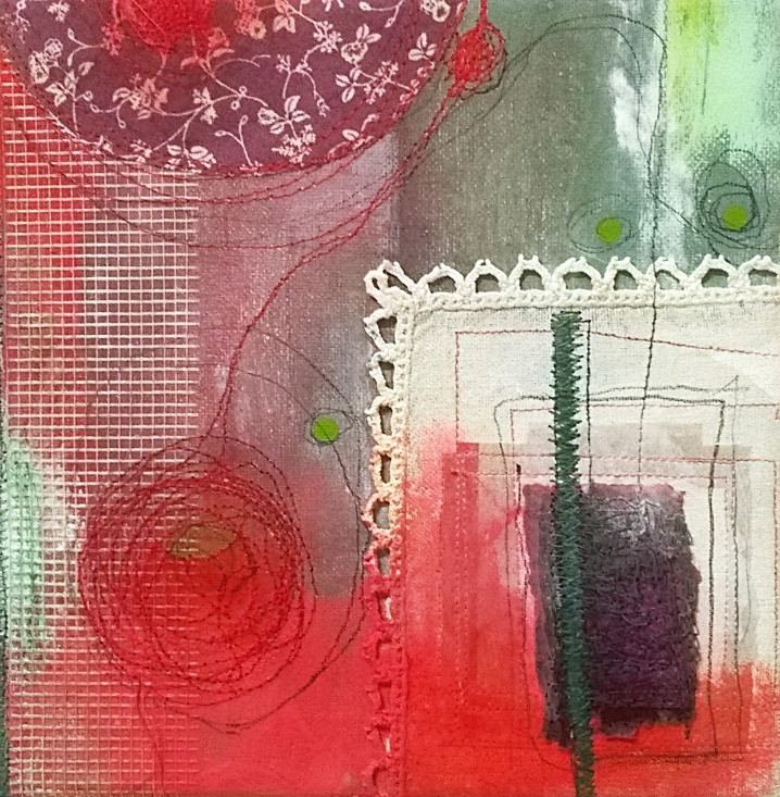 Mixed media painting bu Shelley Noble
