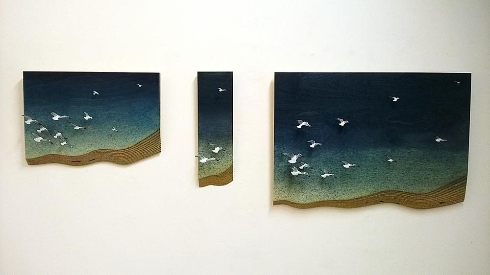 Glenn Wilce enamel and wood