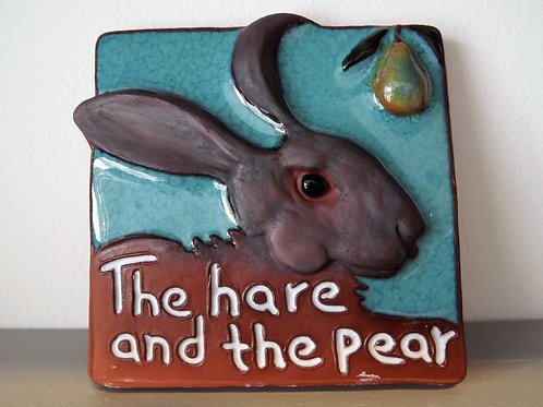 Ann-Mari Hopkin, 'The Hare and the Pear' Ceramic Tile
