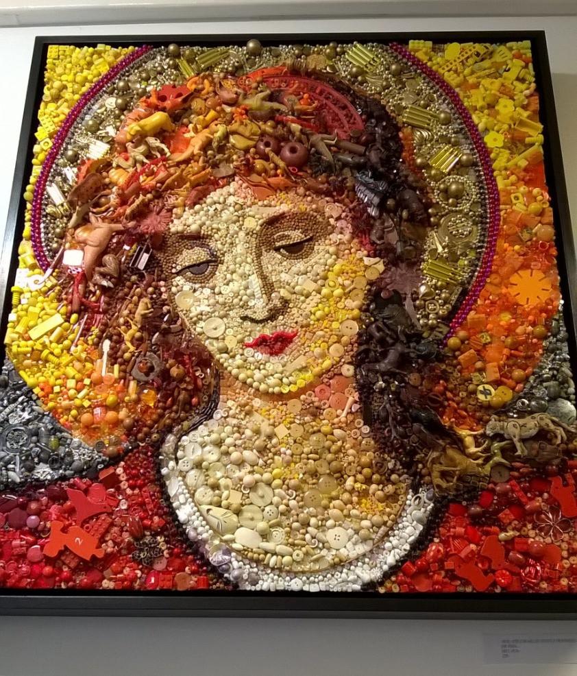 angel, mixed media by Jane Perkins