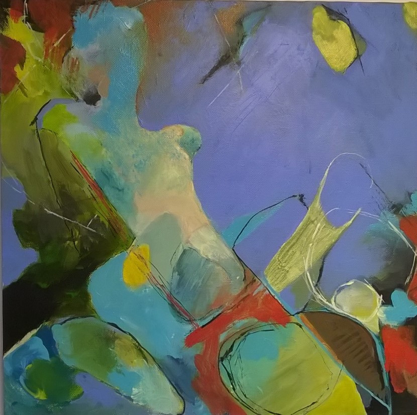 Contemporary painting, acrylic paint, abstraction, Rosemary Ensor