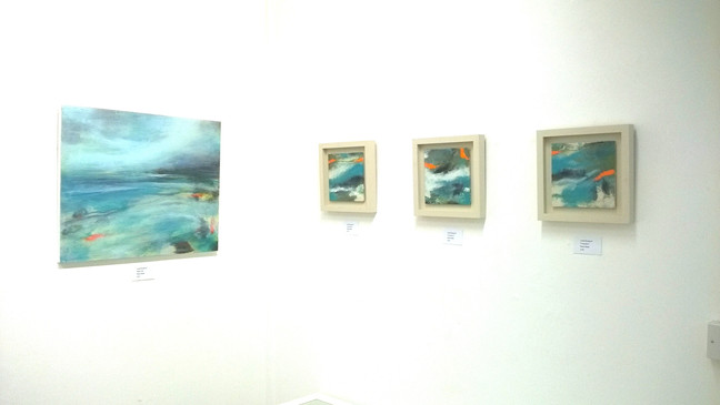Louise Bougourd Exhibition of new paintings - one week left.