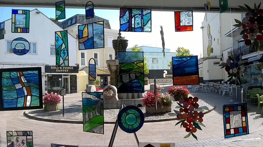 Amy McCarthy window display for Devon Open Studios