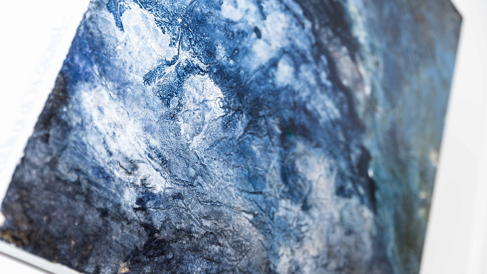 Rachael Bennett oil painting and mixed media - Devon coast