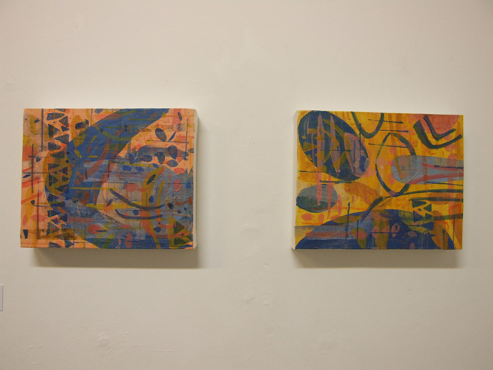 Diptych - Painting Exhibition 'Relics' by Donna Hogarth