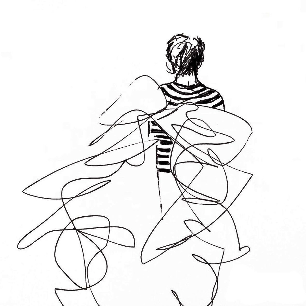 Anna Fitzgerald pen and ink drawing