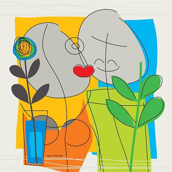״נשיקה ופרח״