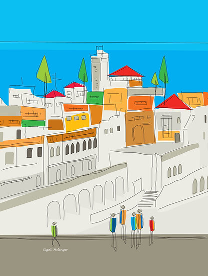 ציור של עיר