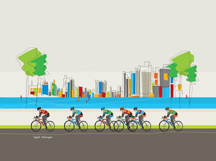 ציור מירוץ אופניים